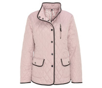Steppjacke, uni, Applikationen in Leder-Optik, Rosa