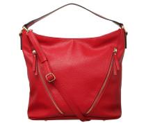 Handtasche, Kunstleder, Narben-Design, Rot