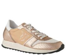 Sneaker, Material-Mix mit Leder