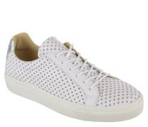 "Sneaker ""Natalia"", Leder, Allover-Lochmuster in Stern-Form, glitzernde Ferse"