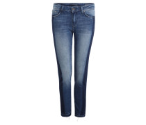 "Jeans ""Adriana"", Super Skinny Fit, 7/8-Länge, Used-Look, Blau"