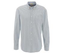 Freizeithemd, Regular Fit, gestreift, Brusttasche, Button-Down-Kragen, Blau