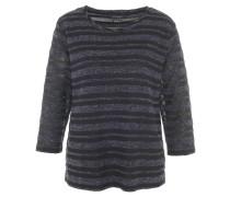 Pullover, Metallic-Streifen, 3/4-Arm, Rundhals