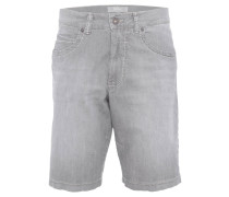 "Jeansshorts ""Bali"", Ultra Light Cotton Stretch, Waschung, Grau"