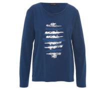 Shirt, Langarm, Uni, Baumwolle, Muster