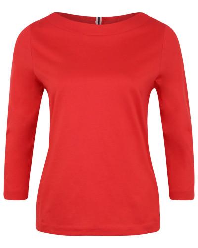 Shirt, 3/4-Arm, Baumwolle, Schlüssellochausschnitt, Schleife