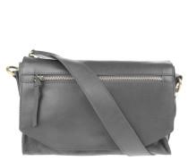 Handtasche, Leder, Veloursleder-Details