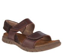 "Sandalen ""Jim 05"", Leder, doppelter Klettverschluss, Braun"