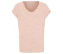 Shirt, Feinstrick, überschnittene Schultern, Rosa