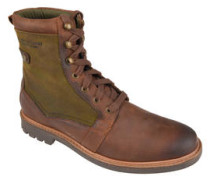 "Boots ""Cleasby"", Materialmix, Leder, Canvas"