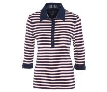 Poloshirt, umgeschlagene Ärmel, maritimer Look
