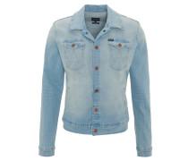 Jeans-Jacke, Slim Fit, Brusttaschen, Druckknöpfe, Blau