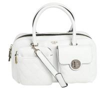 "Handtasche ""Wilson"", Leder-Optik, Stepp-Design, Weiß"