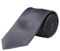 Krawatte, handgefertigt, reine Seide, grau