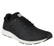 Sneaker, Denim-Mix, toniges Design, Schwarz