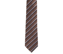 Krawatte, reine Seide, diagonal gestreift