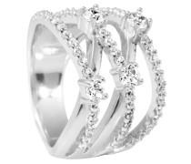 Ring, Wickeloptik, Zirkonia, Silber, 61-1844-1-082