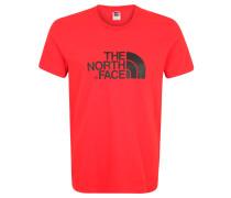 T-Shirt, Baumwolle, Logo-Print, Rot