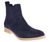 Chelsea Boots, Leder, Lyralochung, Blau