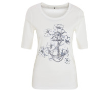 "Shirt ""Edda"", Halbarm, Metallic-Print, Nieten-Besatz"