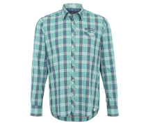 Freizeithemd, Kent-Kragen, Regular Fit, Grün