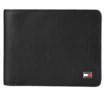 "Brieftasche ""Contrast Edge Mini"", echt Leder, Logo-Emblem, Schwarz"