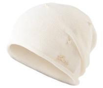 Mütze, Perlen-Besatz, Rollsaum