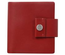 "Brieftasche ""Henau Dalene"", echtes Leder, Rot"