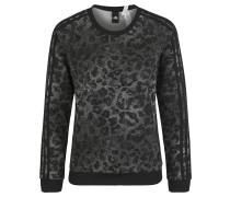 Sweatshirt, Animal-Print, für Damen, Schwarz
