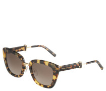 Sonnenbrille, Cat-Eye-Stil, Havanna-Muster