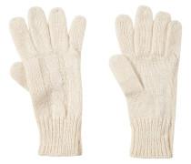 Handschuhe, Strick, Zopfmuster