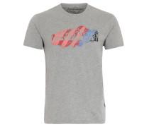 "T-Shirt ""Servian"", reine Baumwolle, Print, Grau"
