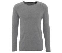 Pullover, uni, offene Säume, extra weich, Grau
