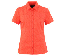 Bluse, kurzärmlig, Print, für Damen, Orange