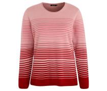 Pullover, Farbverlauf, Streifen, gerollter Saum, Rosa