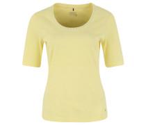 T-Shirt, Baumwolle, Nieten, Schmucksteine, Gelb
