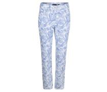 "Jeans ""Inga"", Straight Fit, tropischer Print, Blau"