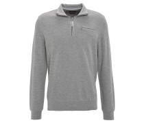"""Pullover """"Siro"""", Stehkragen, Brusttasche, halber Reißverschluss, Grau"""