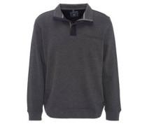 Sweatshirt, Fischgrät-Muster, Stehkragen