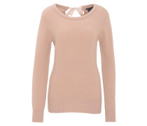 Pullover, uni, Schleife, Woll-Mix, Rosa