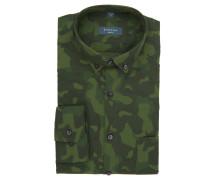 Businesshemd, Slim Fit, Brusttasche, Camouflage-Muster