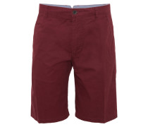 Shorts, einfarbiges Design, Baumwolle, Rot