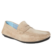 "Business-Slipper ""Zenon"", Veloursleder, Beige"