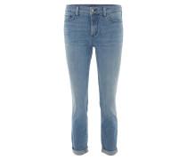 """Jeans """"Clarissa Ankle"""", 7/8-Länge, Slim Fit, gestreift, Blau"""