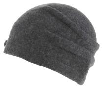 Mütze, Filz, Pailletten, Bommel, Schurwolle