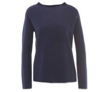 Pullover, Wolle-Anteil, Kontraststreifen, Mock Neck, Grau