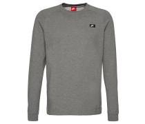 Sweatshirt, Melange-Effekt, Reißverschlusstasche, für Herren, Grau