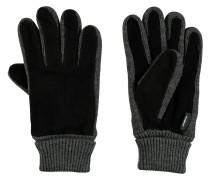 Handschuhe, Veloursleder, Strick, elastischer Bund