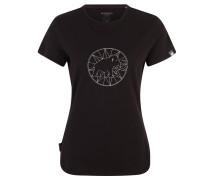 T-Shirt, Bio-Baumwolle, Print, für Damen, Schwarz