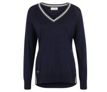 Pullover, Seiden-Anteil, gestreifte Bordüre